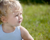 Blond babymeisje Stock Afbeelding