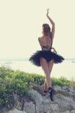 Blond ballerina royaltyfri bild