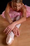Blond ballet stretch Stock Image
