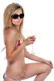 Blond beachbabe in studio Royalty Free Stock Photos