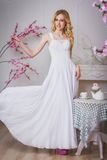 Blond beautiful bride Stock Photography