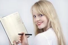 Blond beautiful girl Stock Photos