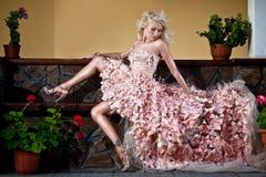 Blond beautiful luxury woman Stock Photo