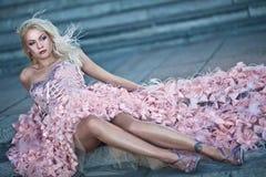 Blond beautiful luxury woman Stock Photos
