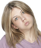Blond beautiful woman Stock Photo