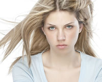 Blond beautiful woman Stock Photos
