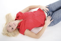 Blond Beauty 9 stock images
