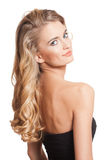Blond beauty with amazing hair. Stock Photos