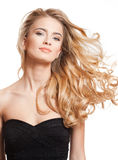 Blond beauty with amazing hair. Royalty Free Stock Photo