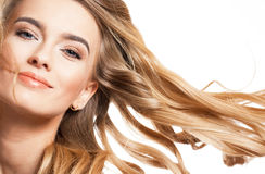 Blond beauty with healthy hair. royalty free stock photo