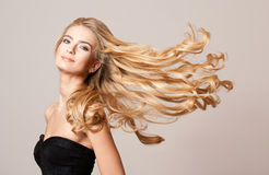 Blond beauty with healthy hair. royalty free stock photos