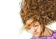 Blond beauty isolated Stock Photography