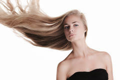 Blond beauty on white Royalty Free Stock Photos