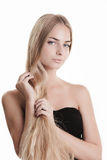 Blond beauty on white Royalty Free Stock Images