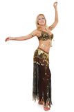 Blond bellydancer Royalty Free Stock Image