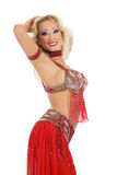 Blond bellydancer Royalty Free Stock Image