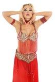 Blond bellydancer Stock Image