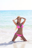 Blond bikini model Royalty Free Stock Photo