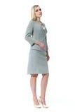Blond biznesowa kobieta z prostym włosianym stylem zdjęcie stock