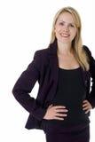 blond biznesowej kobieta Obrazy Royalty Free