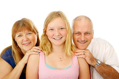Blond Blue Eyed Family. Beautiful blond, blue eyed family.  Father, mother and teen daughter Royalty Free Stock Image