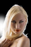 Blond with blue eyes Royalty Free Stock Photography