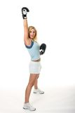 blond bokserska kobieta fotografia stock