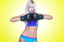 Blond boxing Stock Photography