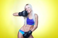 blond boxning Arkivfoto