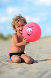 Blond boy Stock Images
