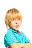 Blond boy portrait Stock Photos