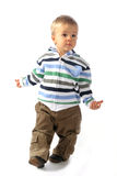 Blond boy walking around Royalty Free Stock Photos