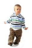 Blond boy walking around Royalty Free Stock Photos