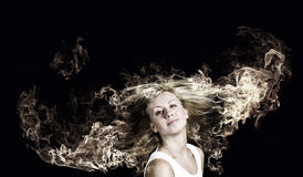 Blond in brand Royalty-vrije Stock Fotografie