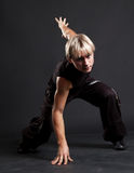 Blond breakdancer in motion Stock Photography