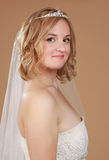 Blond bride Stock Images