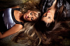 Blond and brunette Royalty Free Stock Image