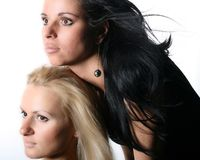 Blond and brunette Royalty Free Stock Photo