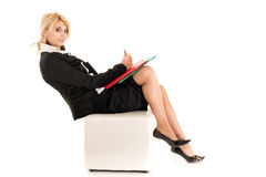 Blond business woman Royalty Free Stock Photo