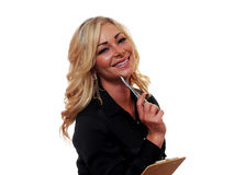 Blond Business Woman Royalty Free Stock Images