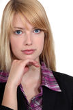 Blond business woman Royalty Free Stock Image