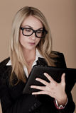 Blond businesswoman. Royalty Free Stock Images