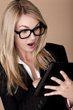 Blond businesswoman. Stock Photo