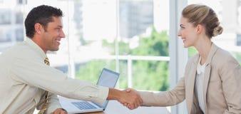 Blond businesswoman having an interview Stock Photos