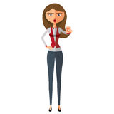 Blond businesswoman motivation flat cartoon vector illustration. Eps10. Isolated on a white background. Eps 10 Royalty Free Stock Photography