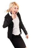 Blond businesswoman success Stock Photo