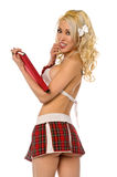 Blond Catholic Schoolgirl Stock Photo