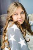 Blond caucasian woman Royalty Free Stock Image