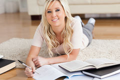 Blond charming College Student Royalty Free Stock Photo