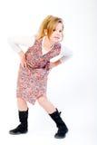 Blond child posing fashion style Stock Photo